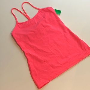 Lululemon bright coral racerback shelf bra tank